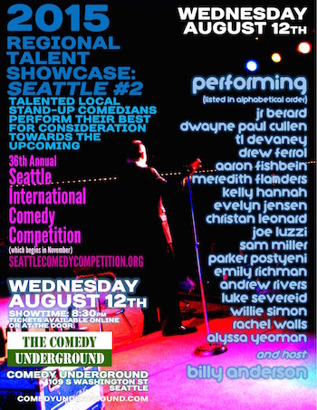 Regional Showcase: Seattle International Comedy Competition