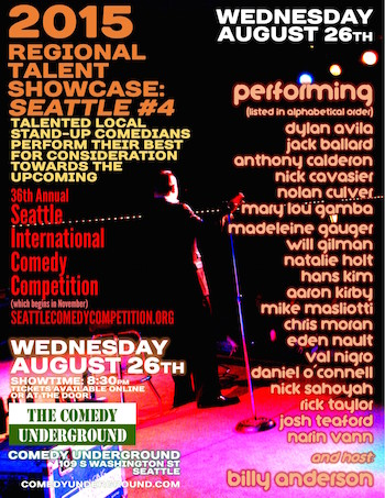 seattle comedy competition showcase: august 26 2015
